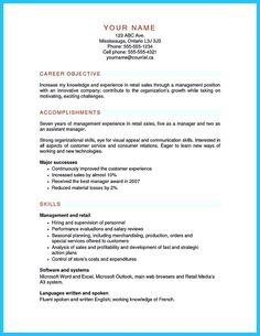 Retail Sales Manager Resume  Retail Sales Manager Resume Retail