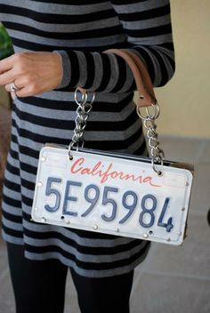 License Plate Purse by LicensePlateHeaven for $79.00