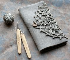 crochet hook knitting needle case...second time I've pinned this, just a different doily on this one! love it!