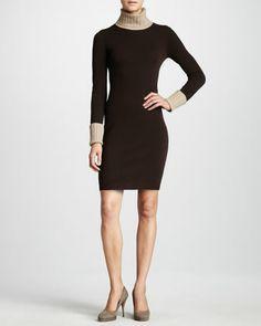 Magaschoni Colorblock Cashmere Dress - Neiman Marcus