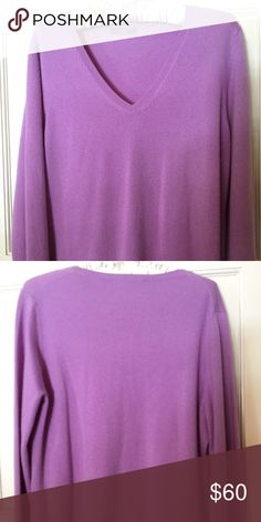 Ann Taylor lavender, cashmere sweater Like new, beautifully soft, lavender (not purple) cashmere v-neck sweater. (I'm also selling one in green). Great for layering! Ann Taylor Sweaters V-Necks