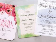 Awash in Color Tradition and today's trends tie the knot with watercolor designs to match any wedding style.