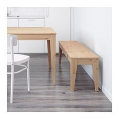 IKEA - NORNÄS, Bench, Solid pine is a natural material which ages beautifully and gains its own unique character over time.Untreated solid pine is a durable natural material that can be painted, oiled, or stained.