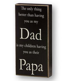 'Their Papa' Box Sign