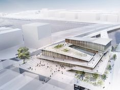 La future gare Saint Denis Pleyel par Kengo Kuma – D'architectures The future station Saint Denis Pleyel by Kengo Kuma – Architectures Cultural Architecture, Sacred Architecture, Concept Architecture, Landscape Architecture, Architecture Design, Sustainable Architecture, Kengo Kuma, Paris Saclay, Grand Paris