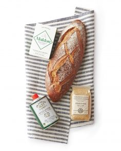 """Salt, Sugar, and Bread - This traditional Jewish Housewarming gift would also make a good hostess gift.  """"Salt for spice, sugar for sweetness and bread for sustenance.""""  You could add a small bottle of olive oil and wrap it in a nice dish towel with ribbon."""