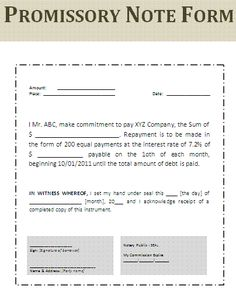 Simple Promissory Note Form Aprilonthemarchco - Auto loan promissory note template