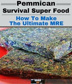 Pemmican is an ancient survival food that has NO SHELF LIFE. You can make this and store it for an emergency food supply in a survival situation. It will last for decades once made so it is absolutely the ultimate survival food. Emergency Food, Survival Food, Outdoor Survival, Survival Prepping, Survival Skills, Survival Quotes, Survival Hacks, Survival Weapons, Emergency Preparedness