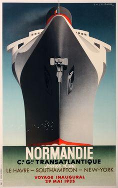 Cassandre poster Normandie - www.affichesmarci.com