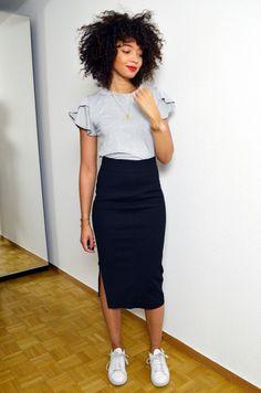 La jupe crayon… sans l'allure de secrétaire.                                                                                                                                                     Plus