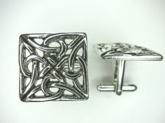 Silver Celtic Knot Cufflinks By Classic Cufflinks, Men's