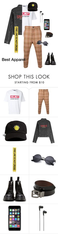 """""""Cool Kid"""" by rochellejbarnes ❤ liked on Polyvore featuring Helmut Lang, Vivienne Westwood, 21 Men, Balenciaga, Off-White, Dr. Martens, Levi's, Dolce&Gabbana, B&O Play and men's fashion"""