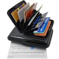 Shells,Black Aluminium outer & ABS interior & PVC divider,Photo Holder,Card Case #shell #CardCase