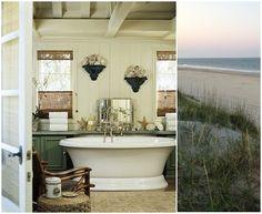 Beach inspired bath