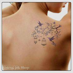 Temporary Tattoo Hummingbird Waterproof Ultra Thin Realistic Fake Tattoos