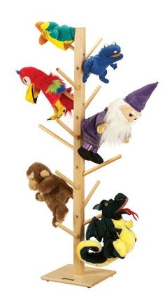 Jonti Craft Freestanding Puppet Tree w 16 Branches Jonti--$58 for theater or dramatic play area