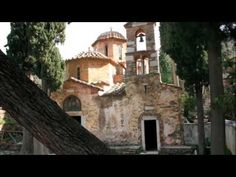 Kessariani monastery Greece - Strolling through the cloisters courtyards just after sunrise with only the birdsong is truly magical Christian World, The Cloisters, Mountain Climbers, Future Travel, Ancient Greece, Trip Planning, Sunrise, Trail, Greek