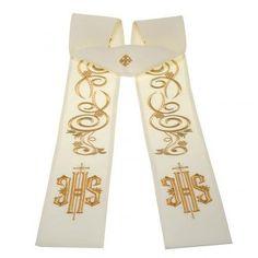 30ed017b28a Estola sacerdotal bordada IHS. Ornamentos Liturgicos
