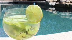 Cucumber Crush Detox Water: 2 kiwis  1/2 lime  1/4 cucumber  A sprig of mint Via: http://www.realityofyou.com/clean-eating-challenge-5-best-detox-fruit-waters-day-16/