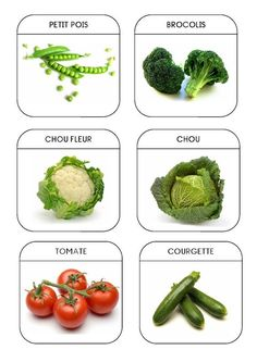 Fruit and vegetable Healthy Prepared Meals, Image Fruit, Autism Education, French Kids, French Expressions, Kids English, French Classroom, Montessori Materials, Teaching French