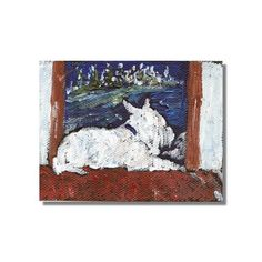ACEO Wonders2014 #Westie Winter Scene Impressionism Dog Art #Christmas Buckman