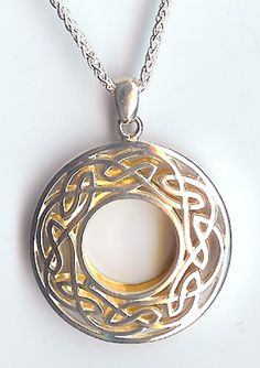 Keith Jack Window to the Soul Pendant, Sterling Silver with 24Kt Gold Gilding | MonsterMarketplace.com
