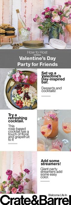 Celebrate Valentines Day with a group of your closest friends with these tips and treats from Sugar and Charm.