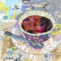 Nancy Standlee - torn paper collage