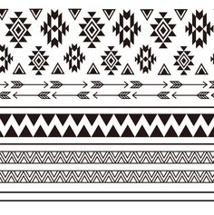 marquesan tattoos are stupid Native American Patterns, Native American Symbols, Western Tattoos, Tribal Tattoos, Tatoos, Tribal Patterns, Fabric Patterns, Tribal Prints, Pattern Library