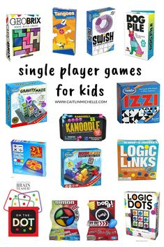 Single Player Games for Kids Games For Boys, Board Games For Kids, Fun Games, Activities For Kids, Puzzle Games For Kids, Therapy Activities, Family Game Night, Family Games, Night Kids