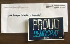Free PROUD DEMOCRAT Sticker from DCCC.ORG #freestuff #freebies #samples #free