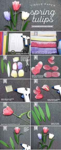 TissueTulipTutorial from MichaelsMakers Lia Griffith