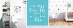 Outer Space Twinkle Wall Decal & Pattern Twinkle twinkle little star, lets sleep sleep under the stars.  https://www.facebook.com/MoomaDecor