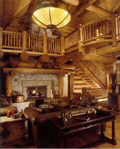 Inside log home. www.695realestate.com