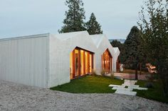 Family House Localarchitecture Architecture. Benefiting from the mild natural grade of the orchard, the house is formed by three spaces shifting down the...