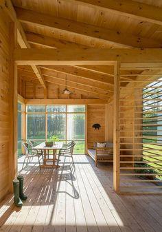 34 Inspiring Wooden House Design Ideas For Interior And Exterior Design Building A Wooden House, Wooden House Design, Small Wooden House, Cabin Design, Prefab Homes, Log Homes, Ideas Cabaña, Architecture 3d, Wooden Decks