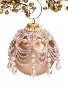 Y205 Bead Pattern Only Beaded Victorian Charm Christmas Ornament Cover | eBay