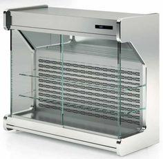Pensili refrigerati a parete in acciaio per gastronomia macellerie