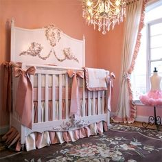 Mirabelle Baby Bedding and Nursery Necessities in Interior Design Guide : All Baby Bedding at PoshTots Baby Room Decor, Nursery Room, Girl Nursery, Kids Bedroom, Nursery Ideas, Room Ideas, Nursery Murals, Nursery Curtains, Decor Ideas