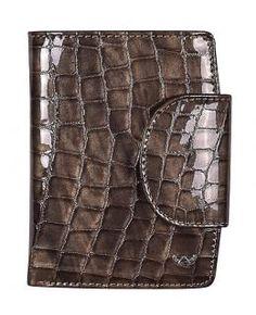 Geldtasche klappbar Golden Head Cayenne Kroko Taupe grau - Bags & more Header, Rind, Wallet, Taupe Colour, Bags, Purses, Diy Wallet, Purse