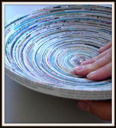 diy magazine bowl