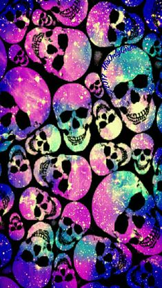 Skull mania galaxy iPhone/Android wallpaper I created for the app CocoPPa.