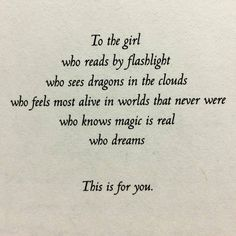 "Dedication from the book ""Hunted"" by Meagan Spooner"