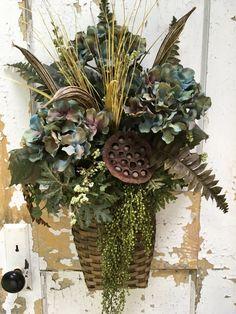 Fall wreath for door autumn wreath for door by FlowerPowerOhio