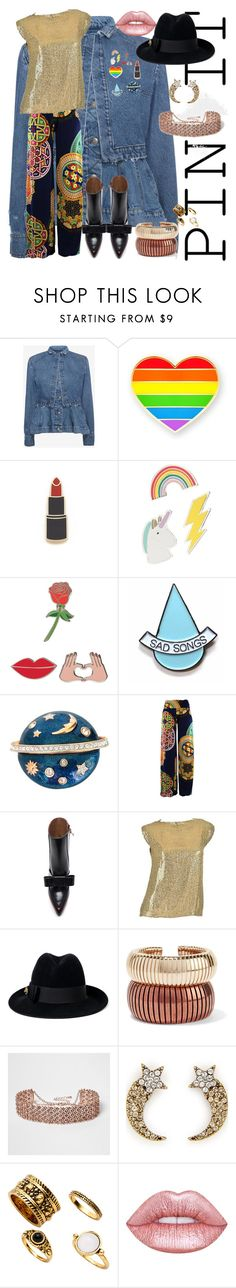 """""""Here and a little queer..."""" by thedeeprj ❤ liked on Polyvore featuring Alexander McQueen, Georgia Perry, Red Camel, iDecoz, Stay Home Club, Swarovski, Marni, Pierre Balmain, Gucci and Rosantica"""