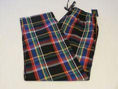 Men's Polo Sleep Pants PJ bottoms 9MD multi colors plaid lounge L large P501HR #PoloRalphLauren #Sleeppants