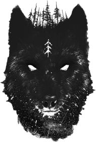 BLACK WOLF #blackbird #black #wolf #wild #drawing #forest #wood #beast #spirit of the forest