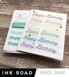 Sharp Designs: Bold Birthday Cards with Ink Road Stamps Birthday Cards, Happy Birthday, Birthday Ideas, My Favorite Color, My Favorite Things, Color Combos, Thankful, Bullet Journal, Ink