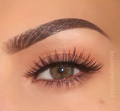 Perfect brows and soft eye makeup