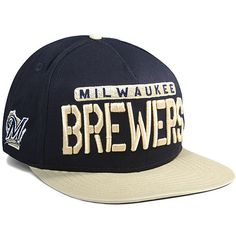 Milwaukee Brewers New Era Sa-sweeter 9FIFTY Adjustable Hat - Navy/Gold - $24.99